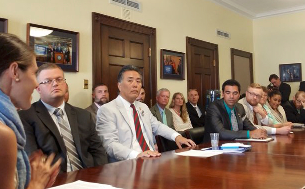 Congressman Mark Takano, now Chairman of the House Veterans Affairs Committee, meets with VES and Student Veterans from Community Colleges Nationwide, June 2016